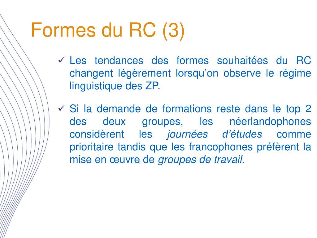 Formes du RC (3)