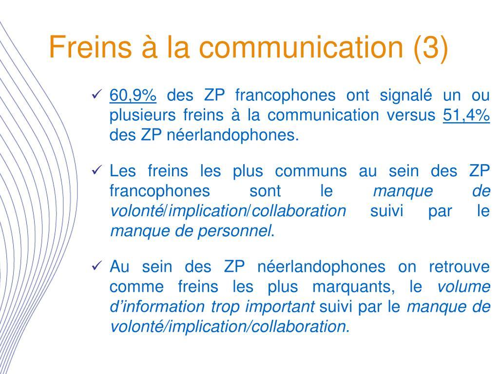 Freins à la communication (3)