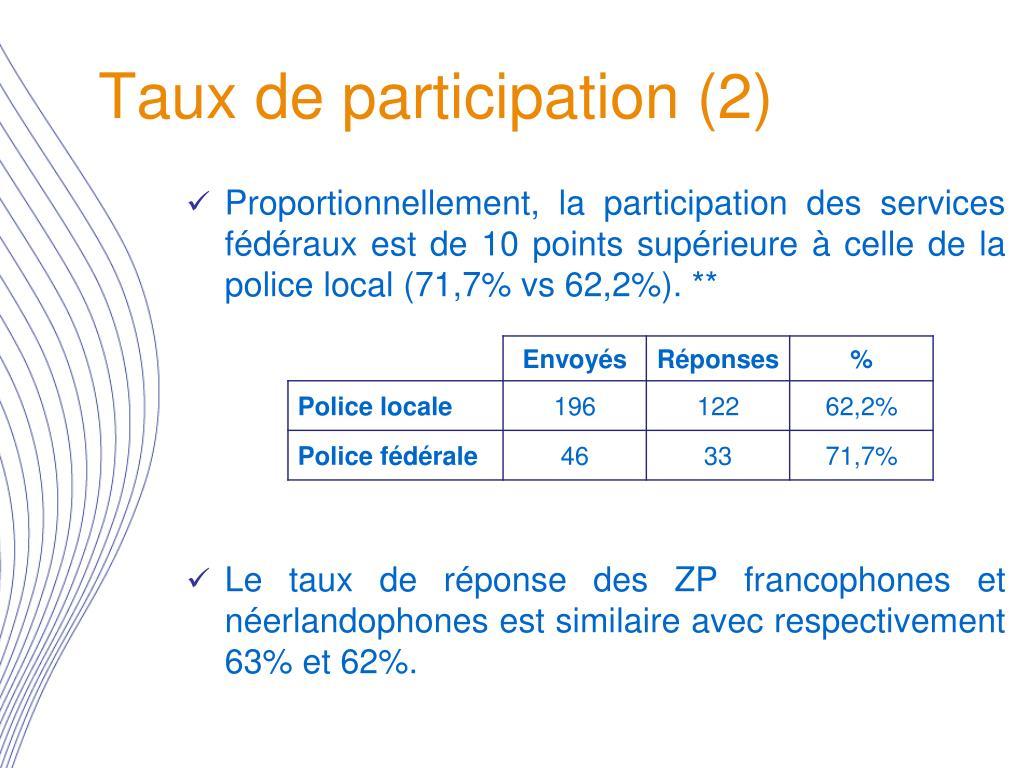 Taux de participation (2)