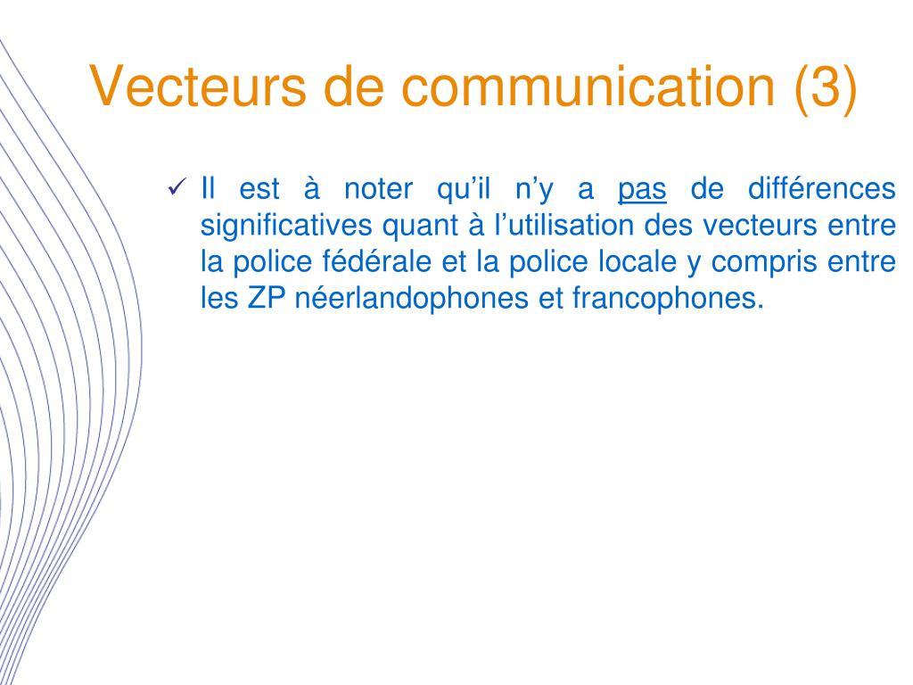 Vecteurs de communication (3)