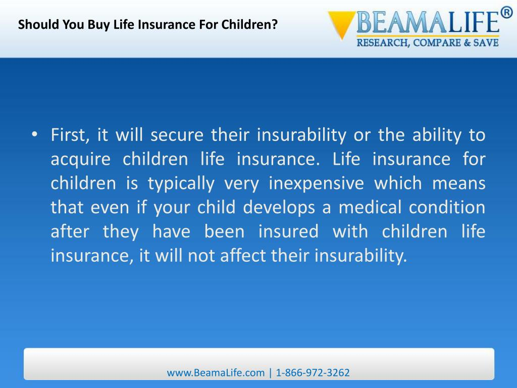 Should You Buy Life Insurance For Children?