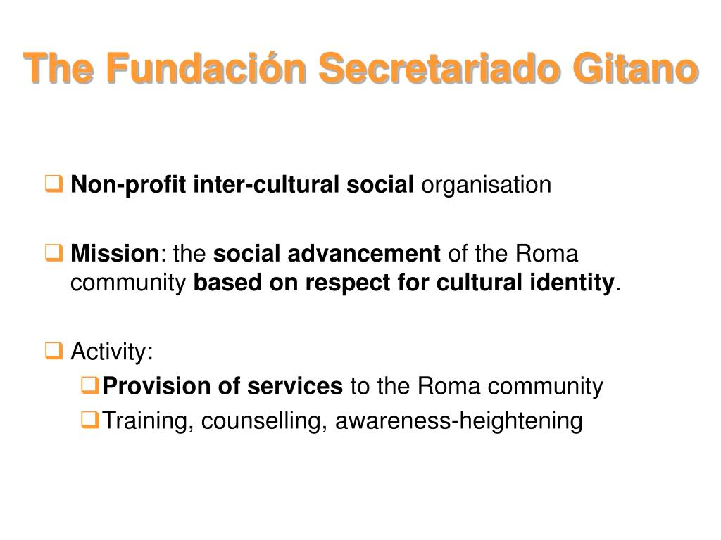 The Fundación Secretariado Gitano