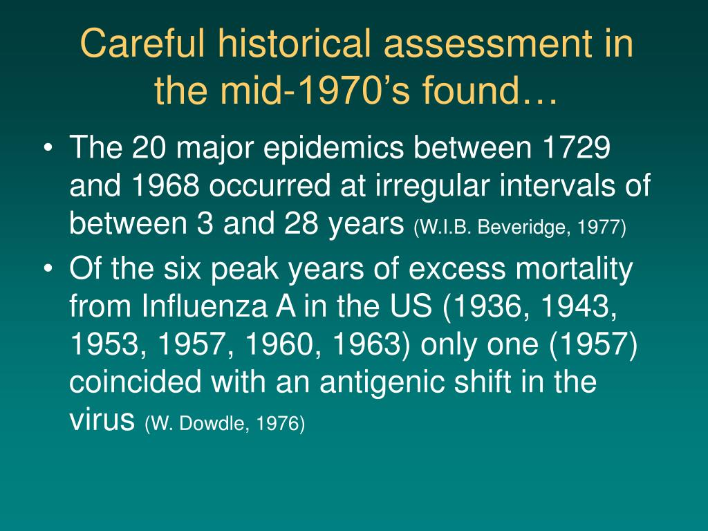 Careful historical assessment in the mid-1970's found…