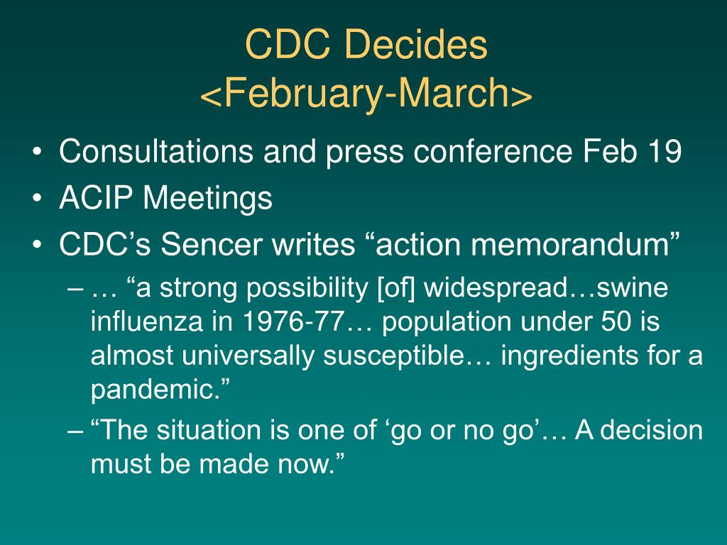 CDC Decides