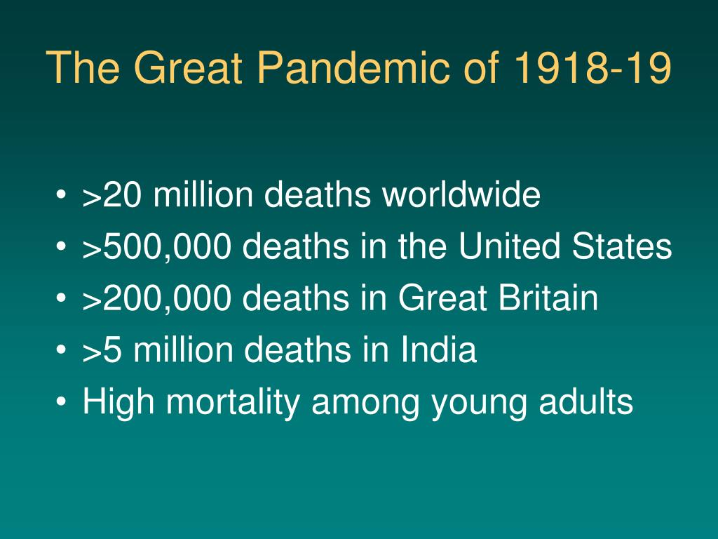 The Great Pandemic of 1918-19