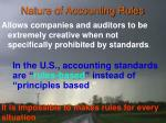 nature of accounting rules