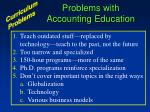 problems with accounting education
