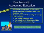 problems with accounting education108
