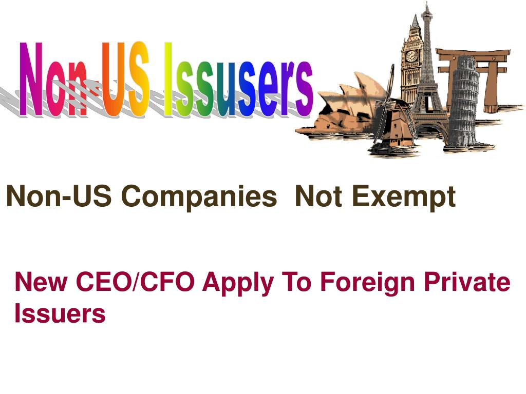 Non-US Issusers