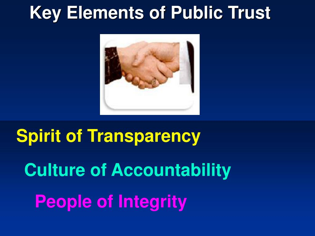Key Elements of Public Trust