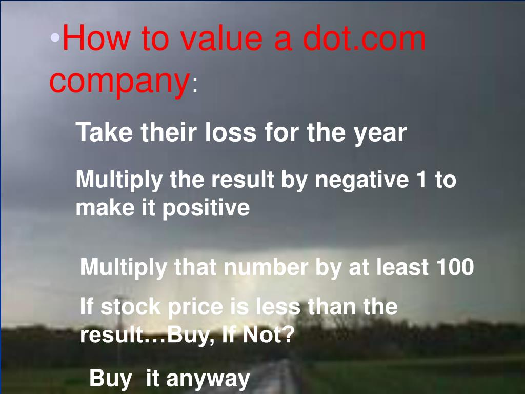 How to value a dot.com company