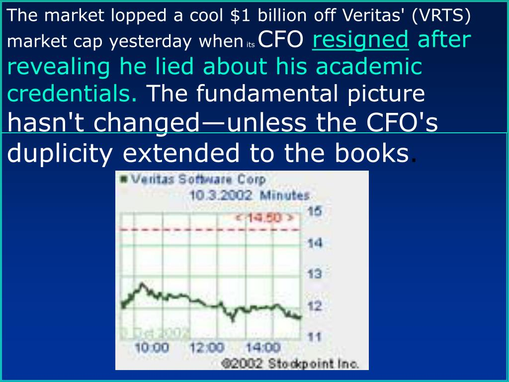 The market lopped a cool $1 billion off Veritas' (VRTS) market cap yesterday when
