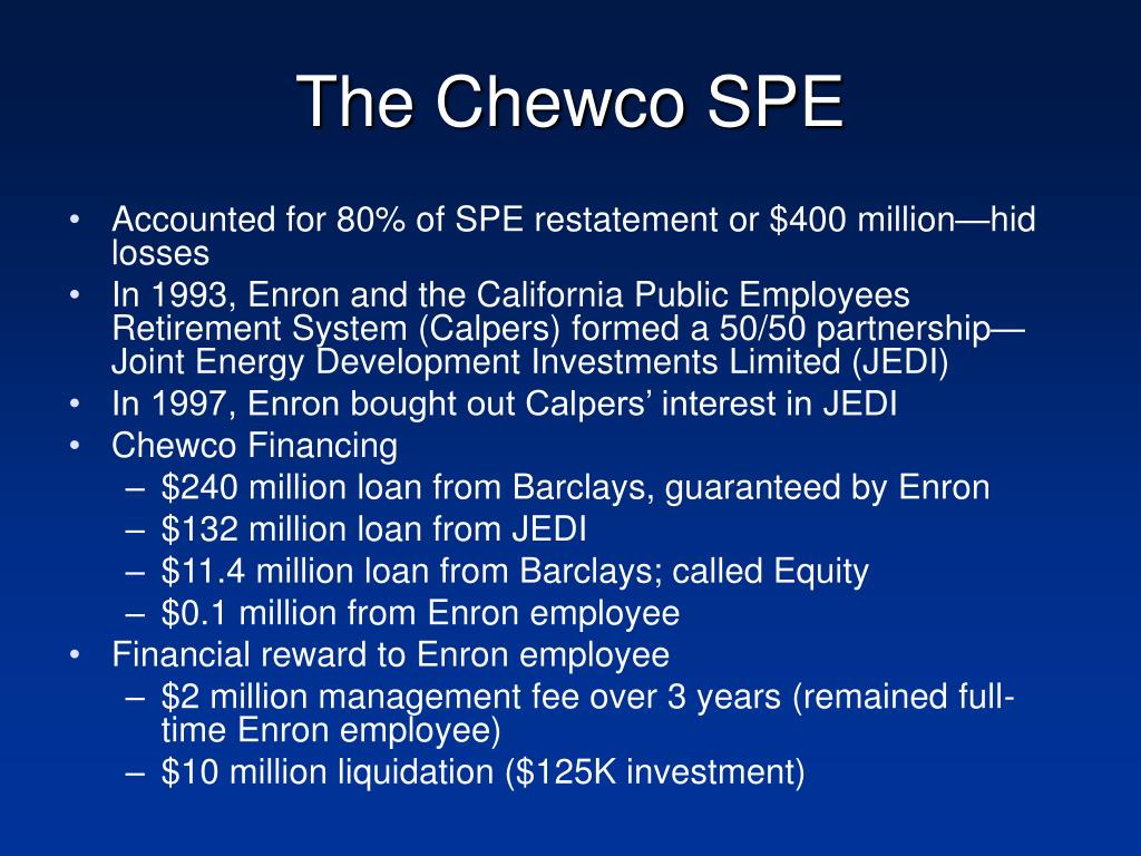 The Chewco SPE