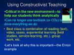 using constructivist teaching