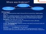 where was anderson