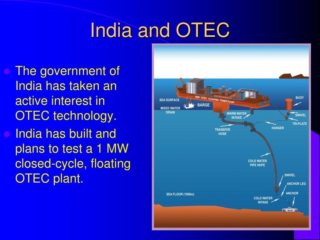 India and OTEC