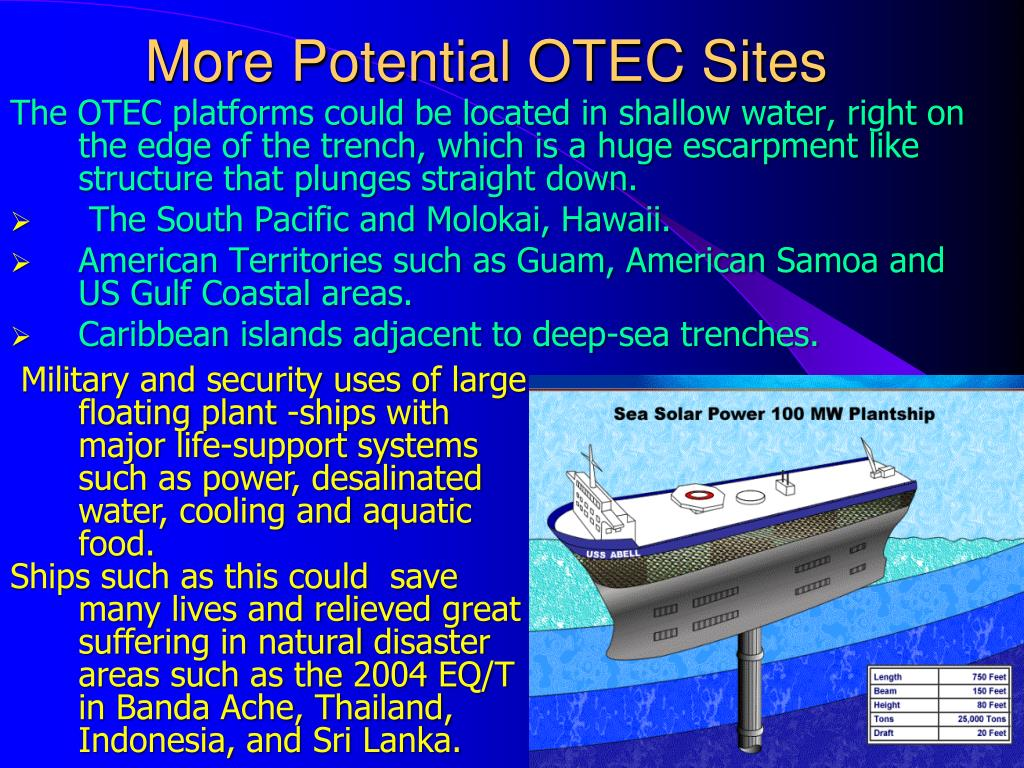 More Potential OTEC Sites