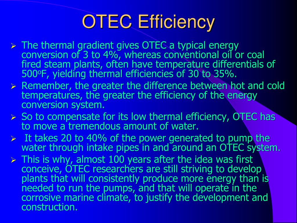 OTEC Efficiency