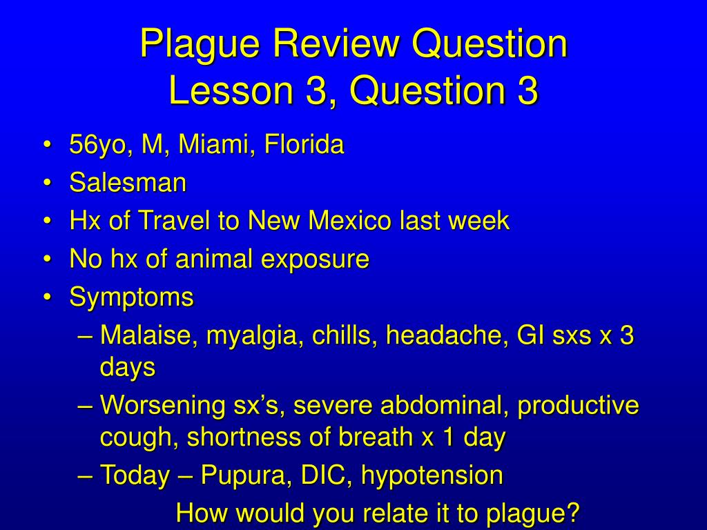 Plague Review Question
