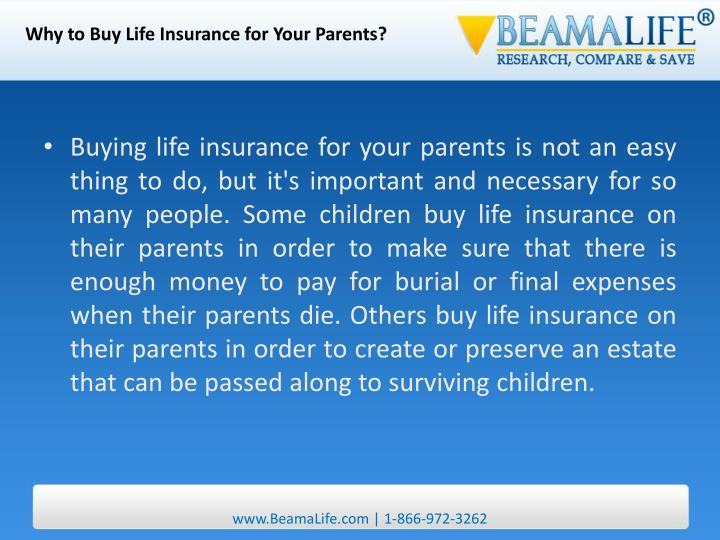 Why to Buy Life Insurance for Your Parents?