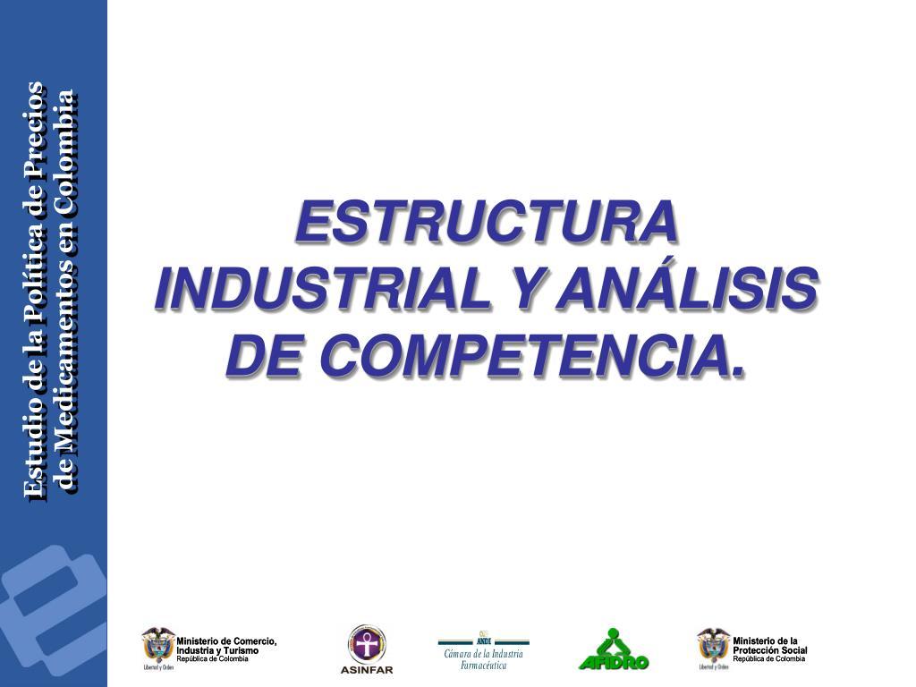 ESTRUCTURA INDUSTRIAL Y ANÁLISIS DE COMPETENCIA.
