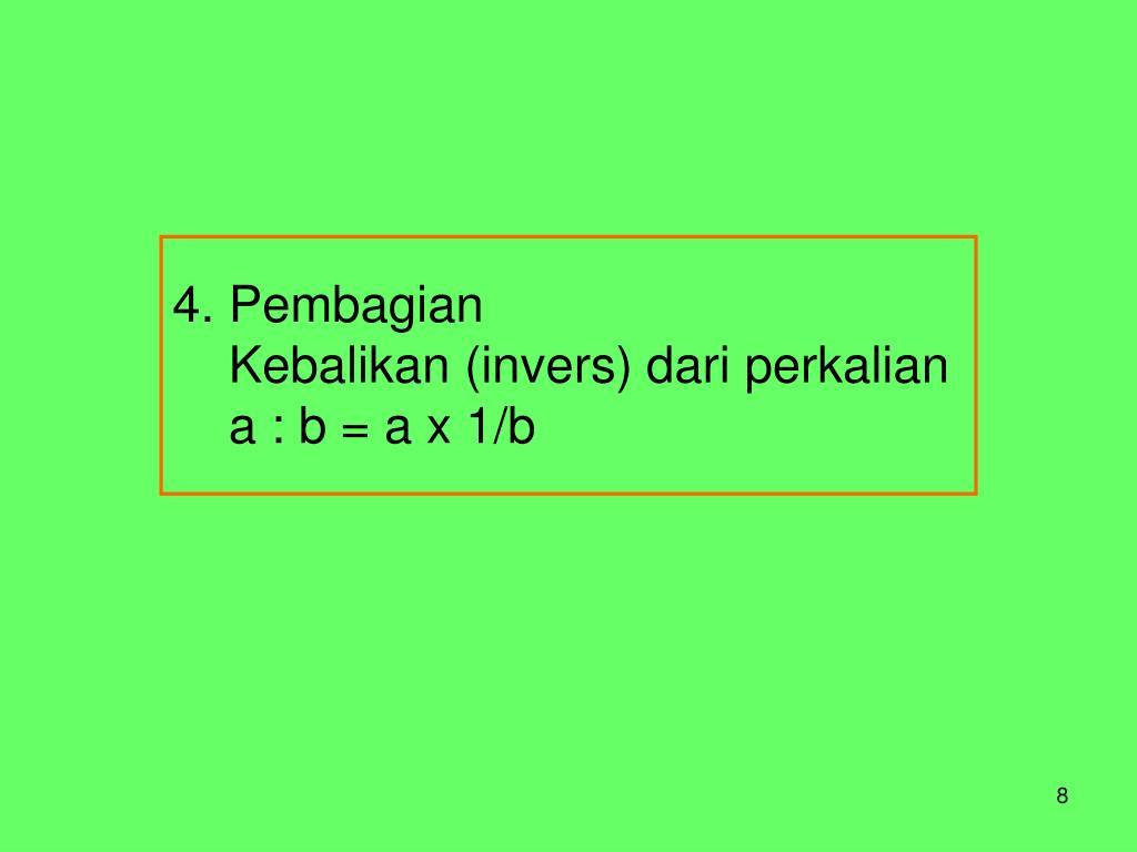 4. Pembagian