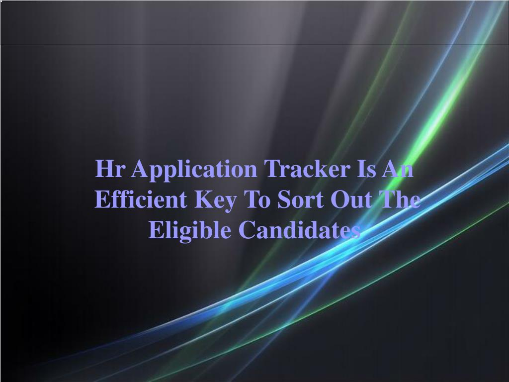 Hr Application Tracker Is An