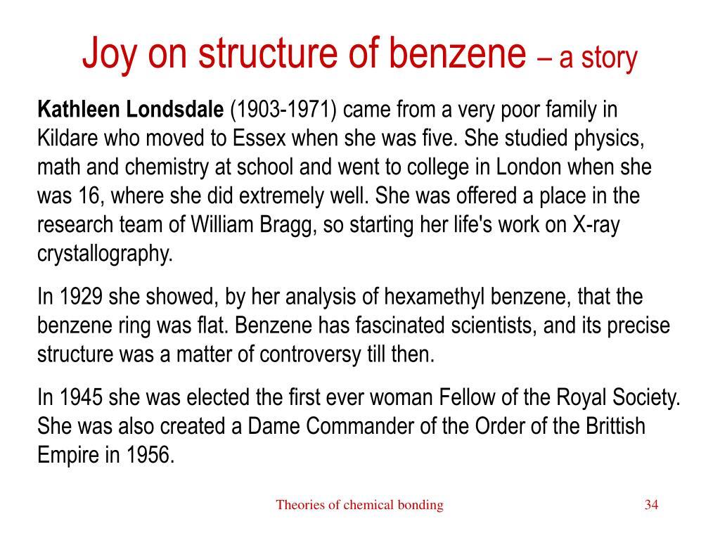 Joy on structure of benzene