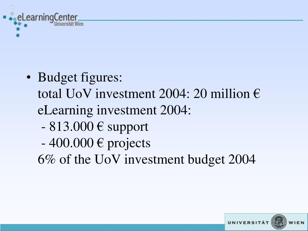 Budget figures: