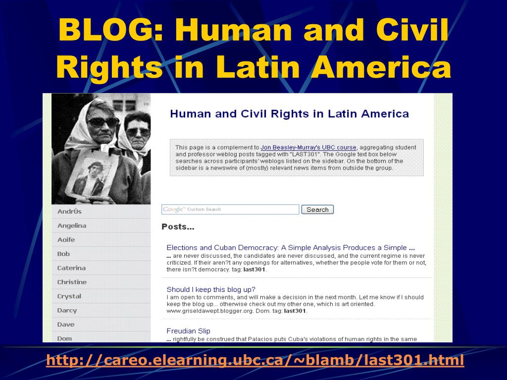 BLOG: Human and Civil Rights in Latin America