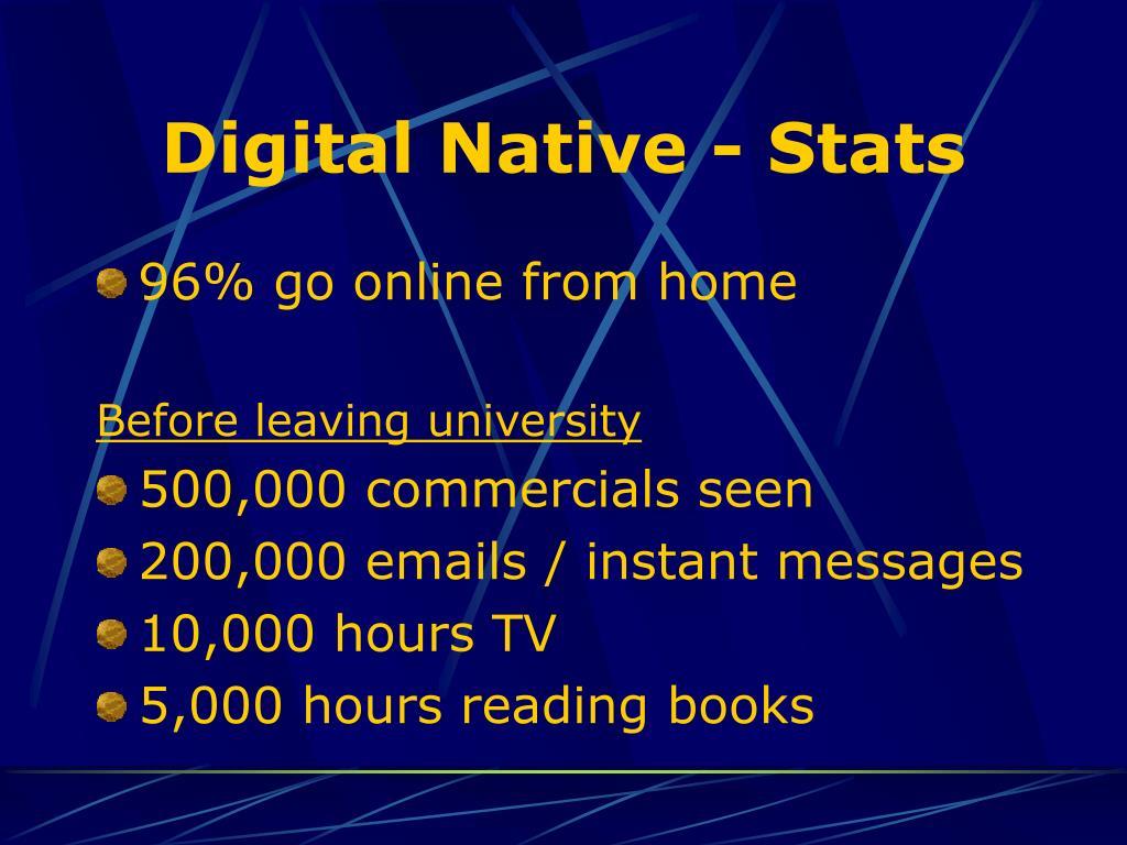 Digital Native - Stats