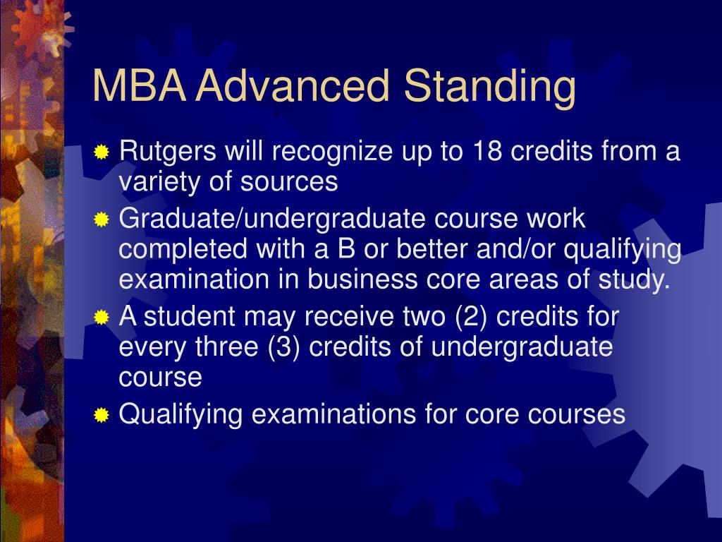 MBA Advanced Standing