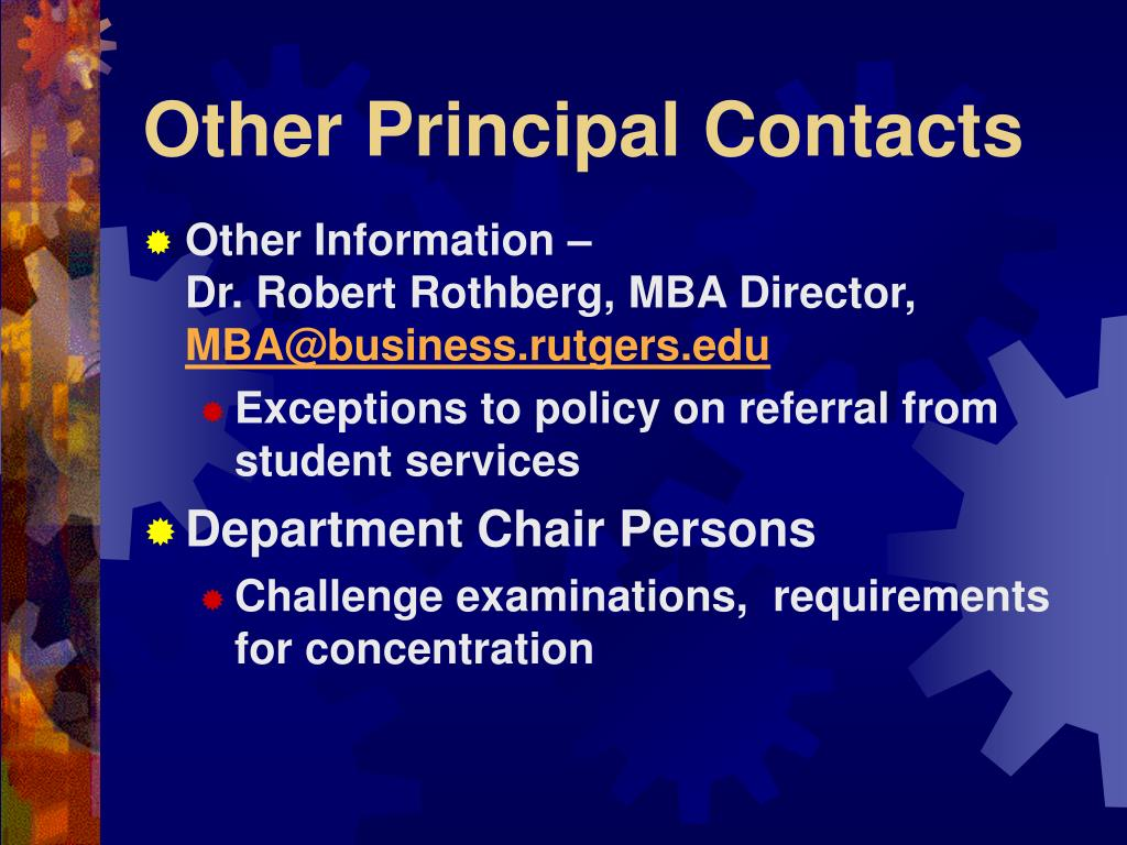 Other Principal Contacts