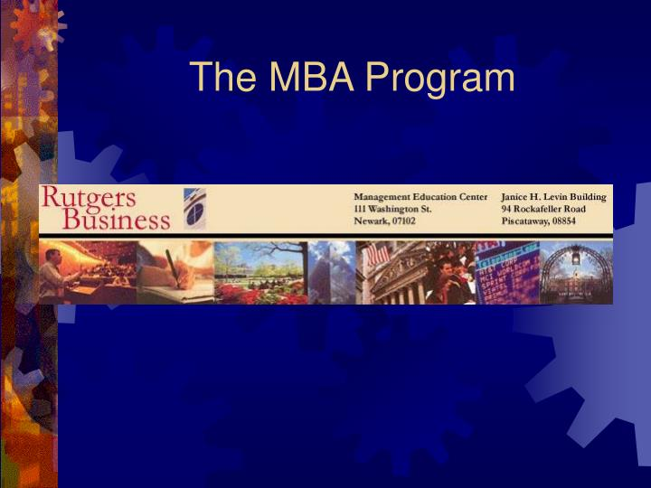 The mba program