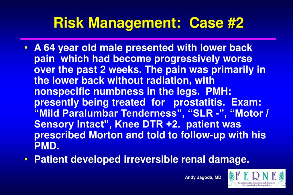 Risk Management:  Case #2