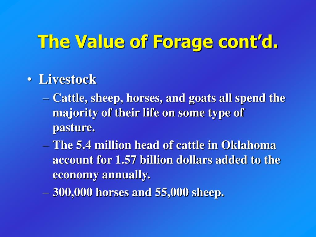 The Value of Forage cont'd.