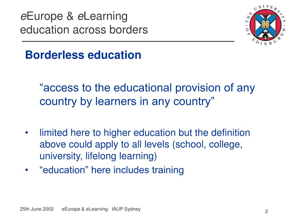 Borderless education