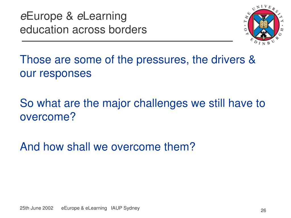 Those are some of the pressures, the drivers & our responses