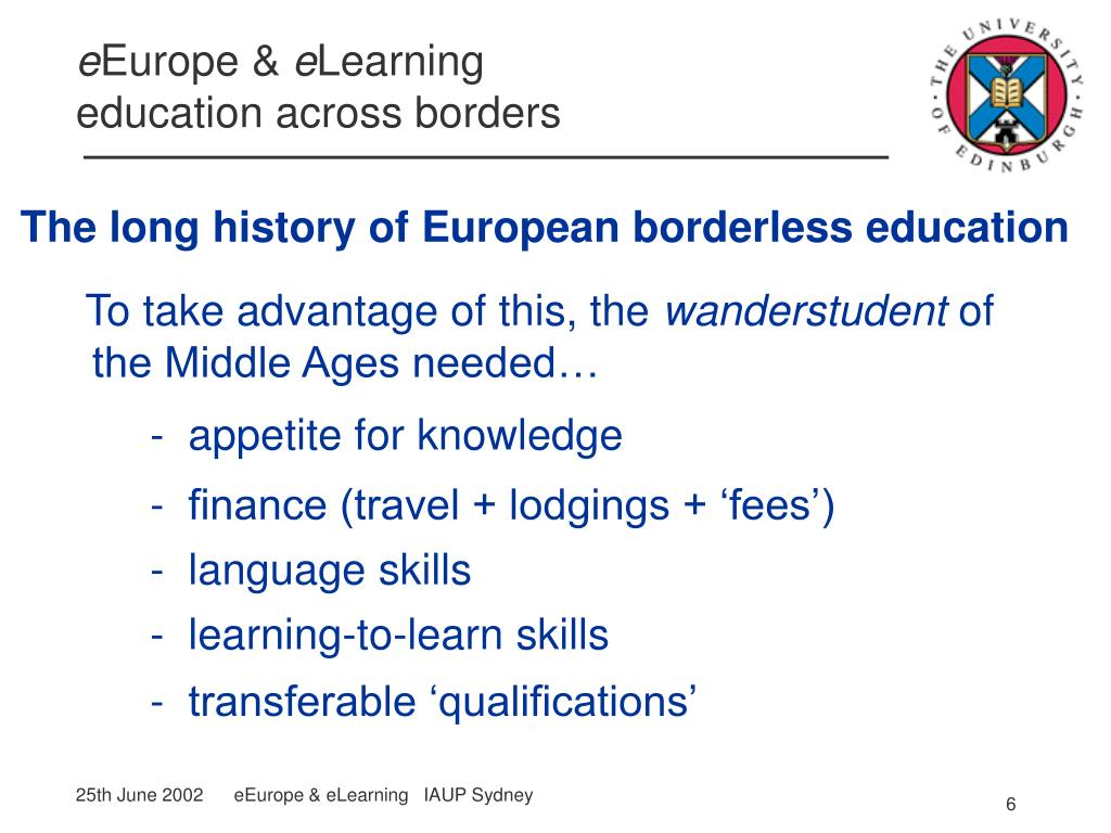 The long history of European borderless education