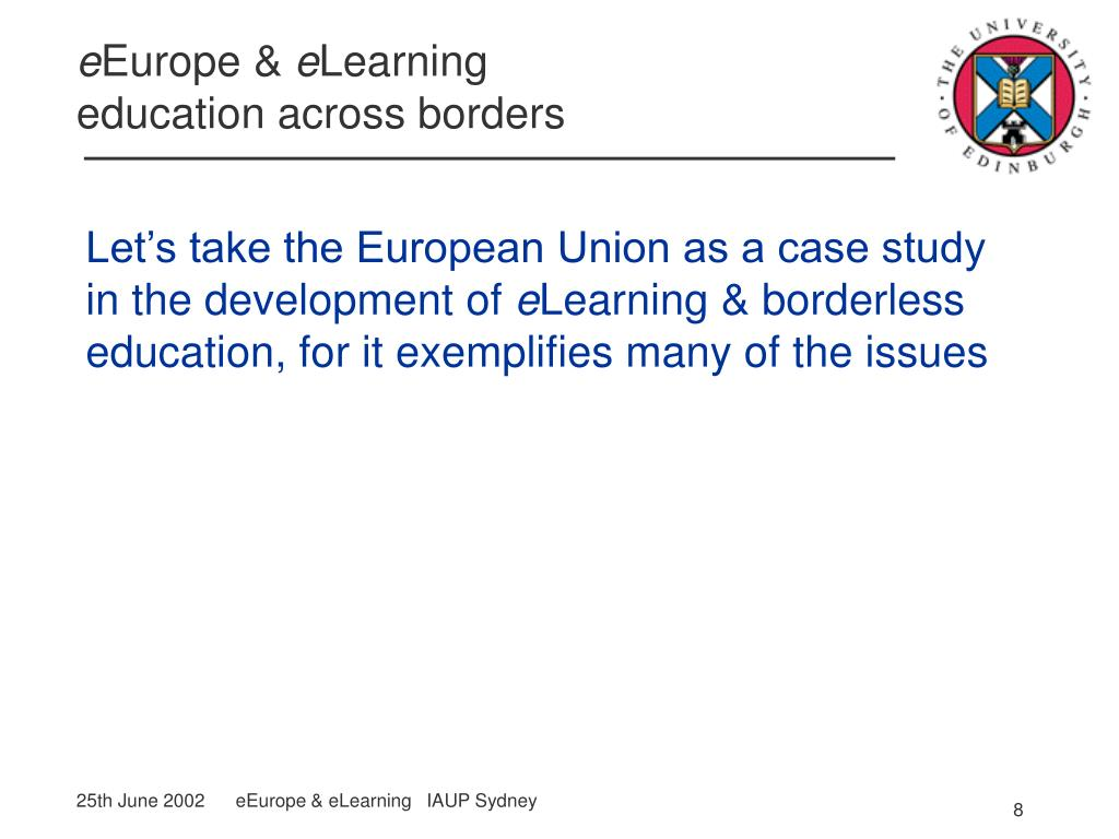 Let's take the European Union as a case study in the development of