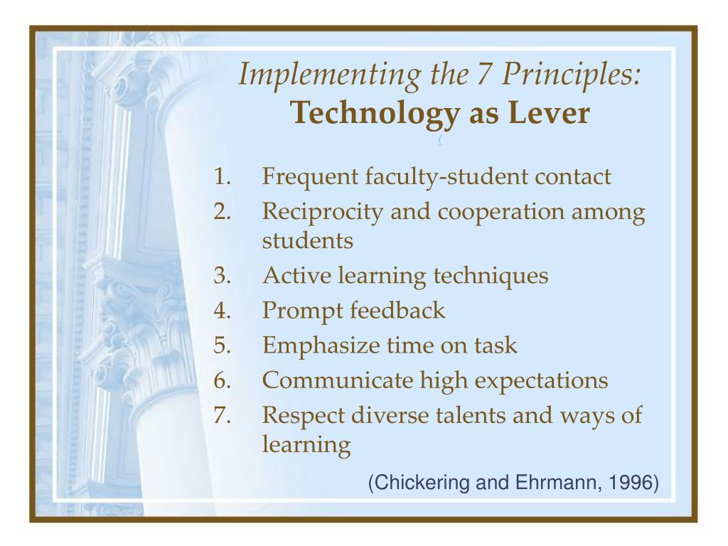 Implementing the 7 Principles: