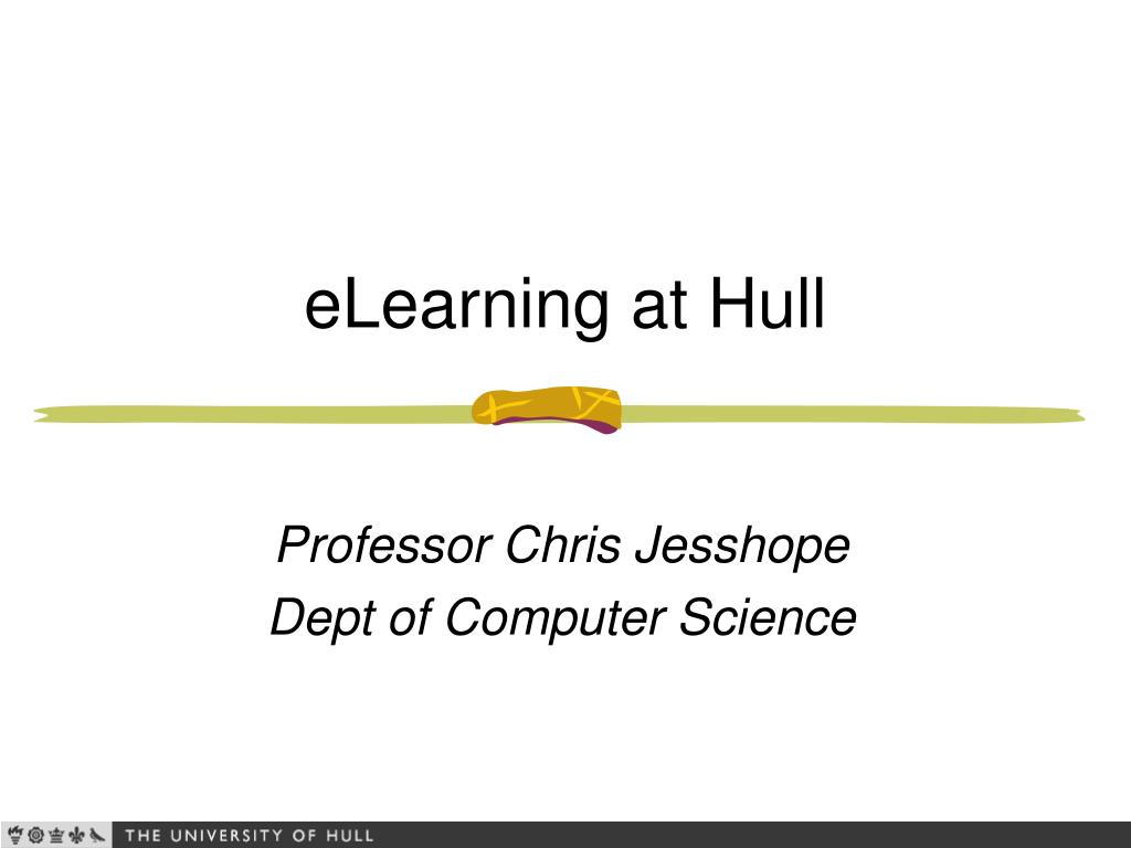 eLearning at Hull