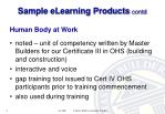 sample elearning products contd