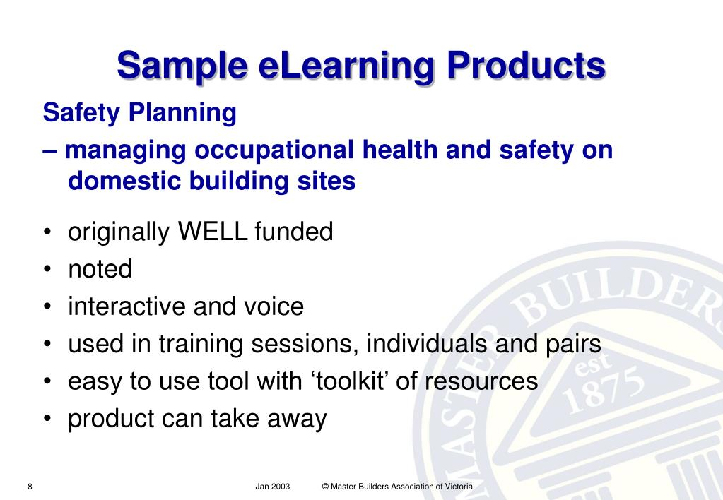 Sample eLearning Products