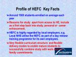 profile of hefc key facts4