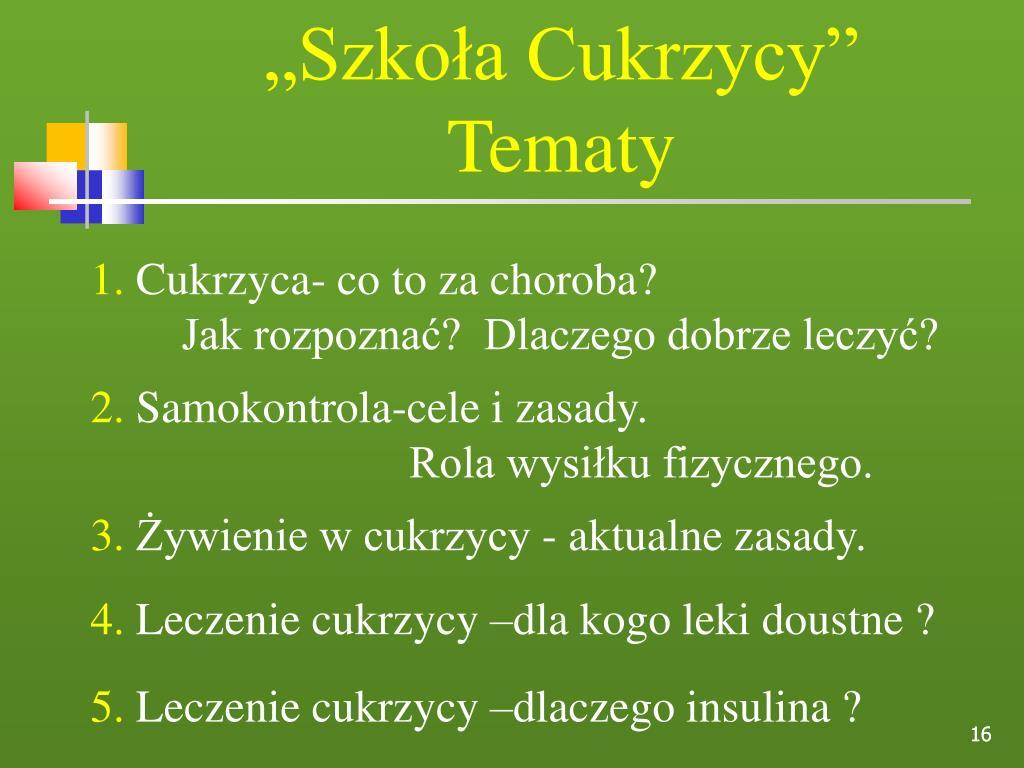 """""""Szkoła Cukrzycy"""""""