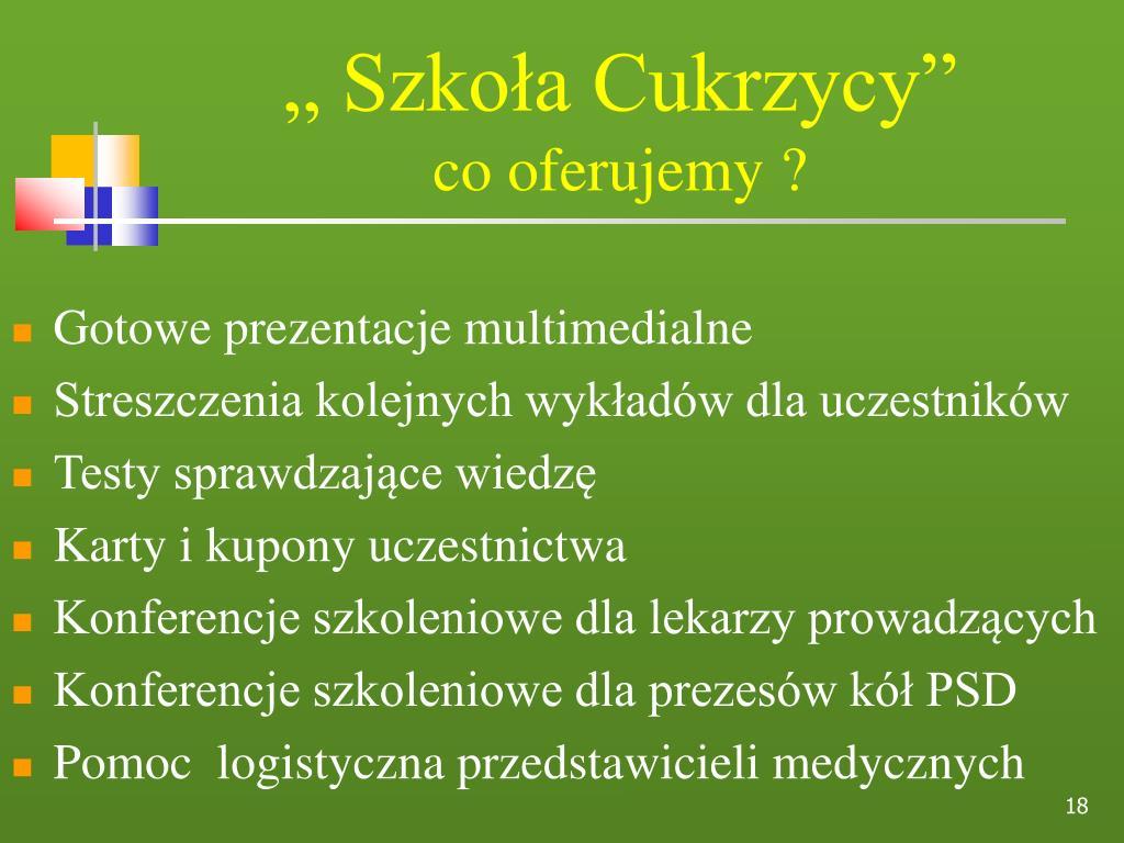 """"""" Szkoła Cukrzycy"""""""