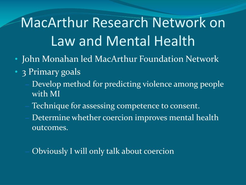 MacArthur Research Network on