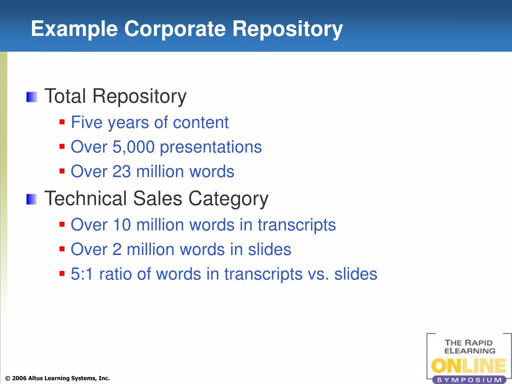 Example Corporate Repository