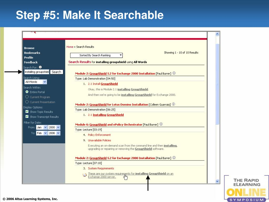 Step #5: Make It Searchable